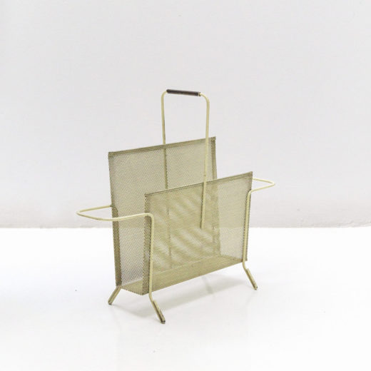 Magazine Holder, corrugated sheet metal, circa 1950