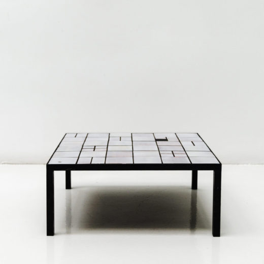 White coffee table by George Jouve circa 1950