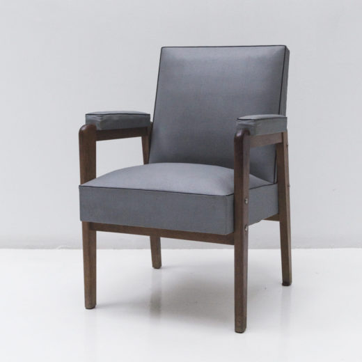 Armchair upholstered by Marcel Gascoin circa 1950