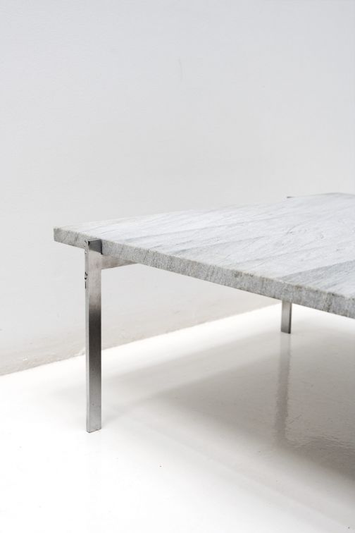 PK61 Grey Coffee Table by Poul Kjaerholm