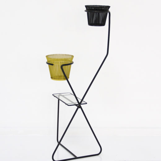 Double plant stand with table. Mathieu Matégot