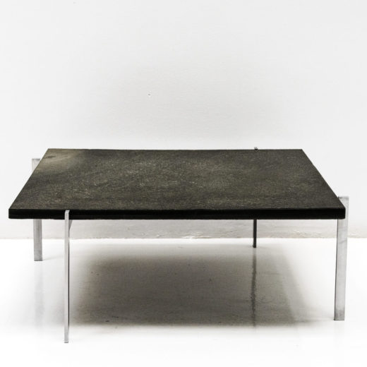 PK61 Black Coffee Table by Poul Kjaerholm