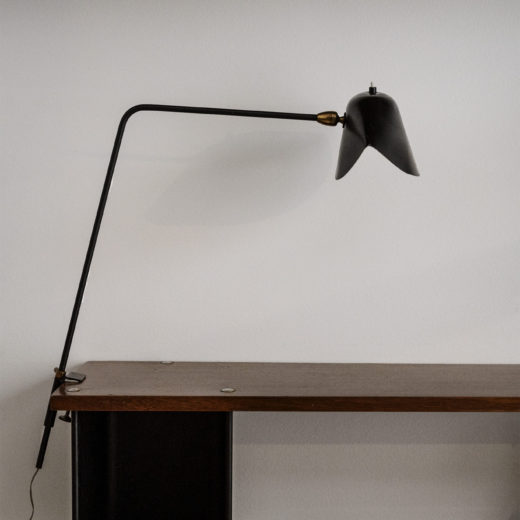 Clip lamp by Serge Mouille